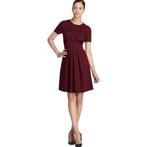 Trina Turk Pleated Silk Detail Sheath Dress